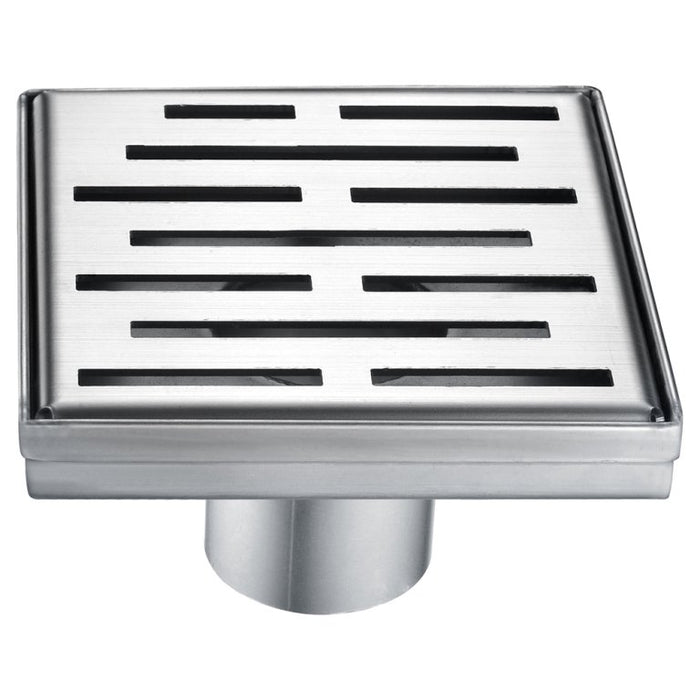 "Dawn LAN050504 Amazon River Series - Square Shower Drain 5""L (Stamping technique & press in the base)-Bathroom Accessories Fast Shipping at DirectSinks."