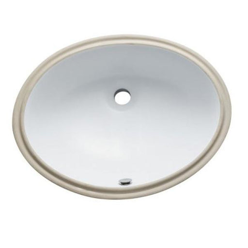 Kingston Brass LBO22178 Courtyard White China Undermount Bathroom Sink with Overflow Hole-Bathroom Sinks-Free Shipping-Directsinks.