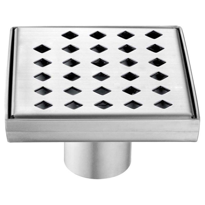 "Dawn LMI050504 Mississippi River Series - Square Shower Drain 5""L (Stamping technique & press in the base)-Bathroom Accessories Fast Shipping at DirectSinks."