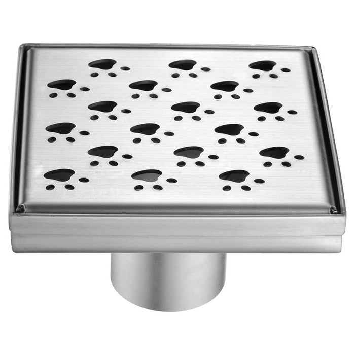 "Dawn LMU050504 Memuru River Series - Square Shower Drain 5""L (Stamping technique & press in the base)-Bathroom Accessories Fast Shipping at DirectSinks."