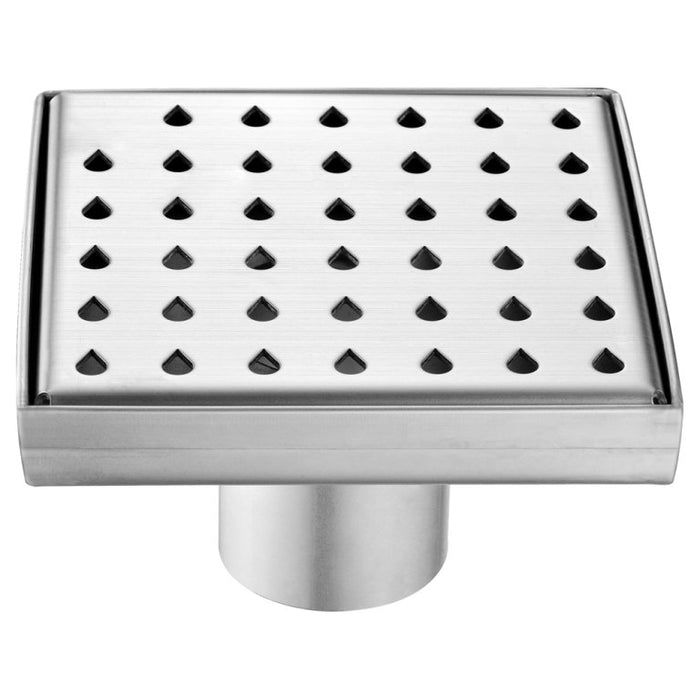 "Dawn LNE050504 Nile River Series - Square Shower Drain 5""L (Stamping technique & press in the base)-Bathroom Accessories Fast Shipping at DirectSinks."
