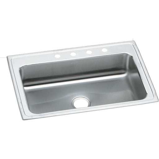 "Elkay 33"" x 22"" x 7-5/8"" Lustertone Classic Stainless Steel Single Bowl Drop-in Sink"