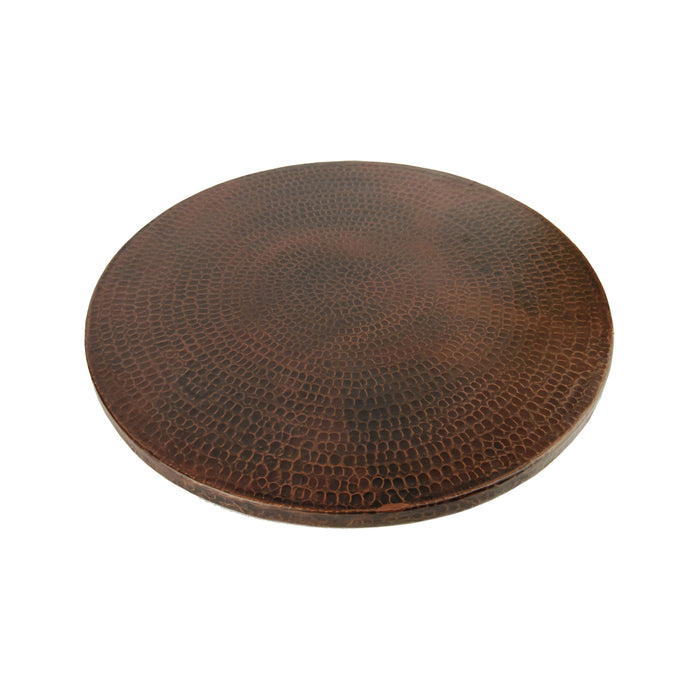 "Premier Copper Products 18"" Hand Hammered Copper Lazy Susan-DirectSinks"