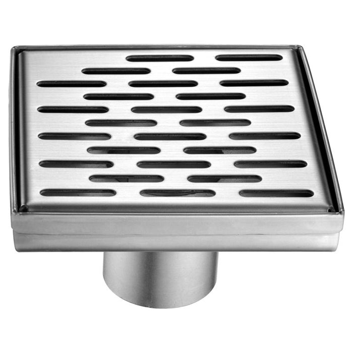 "Dawn LYE050504 Yangtze River Series - Square Shower Drain 5""L (Stamping technique & press in the base)-Bathroom Accessories Fast Shipping at DirectSinks."