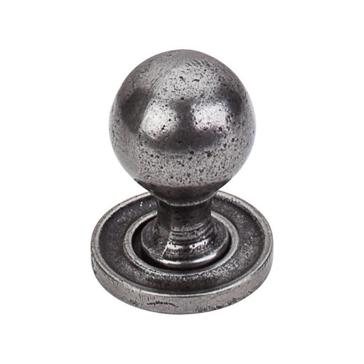 Top Knobs Paris Knob in Smooth with Backplate in Cast Iron-DirectSinks