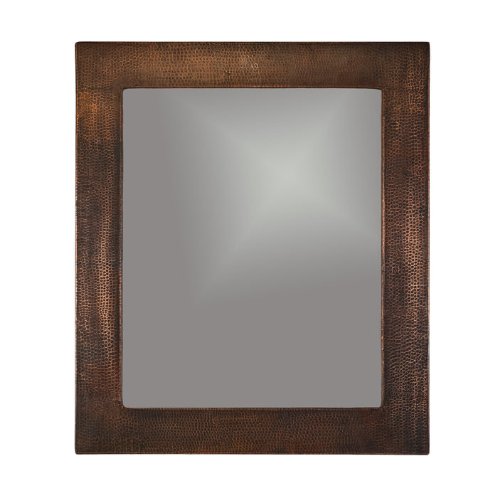 "Premier Copper Products 36"" Hand Hammered Rectangle Copper Mirror-DirectSinks"