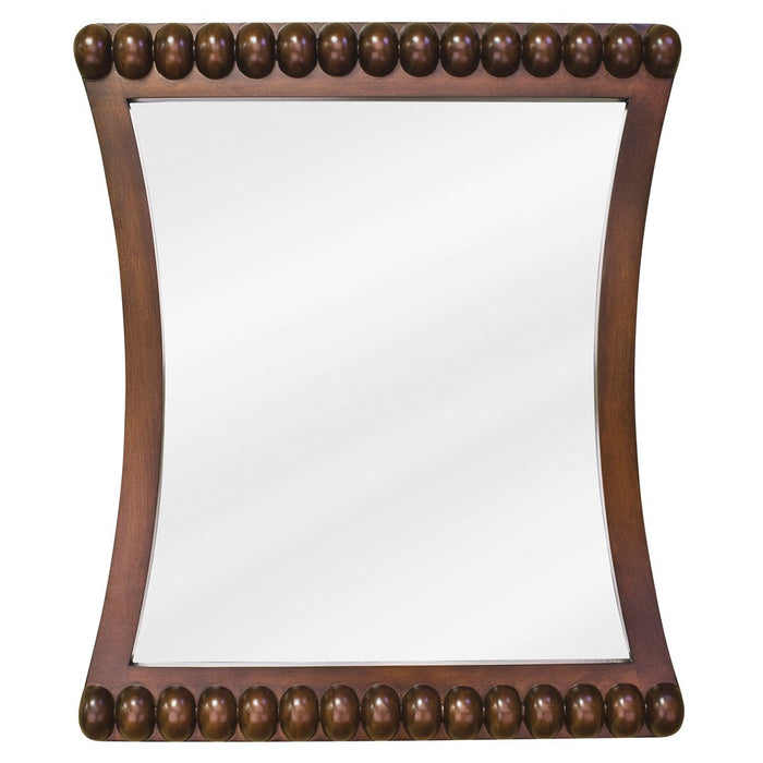 Jeffrey Alexander MIR035 Rosewood mirror with beaded accents and beveled glass-DirectSinks