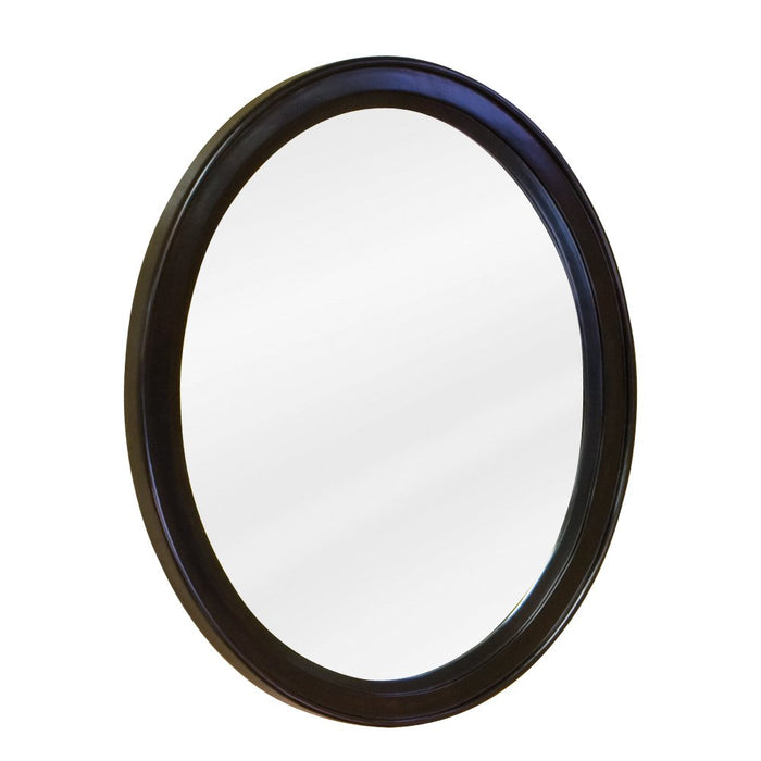 Jeffrey Alexander MIR056 Espresso oval mirror with beveled glass-DirectSinks
