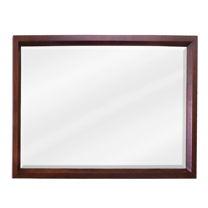 Jeffrey Alexander MIR067-D Mahogany rectangle mirror with beveled glass-DirectSinks