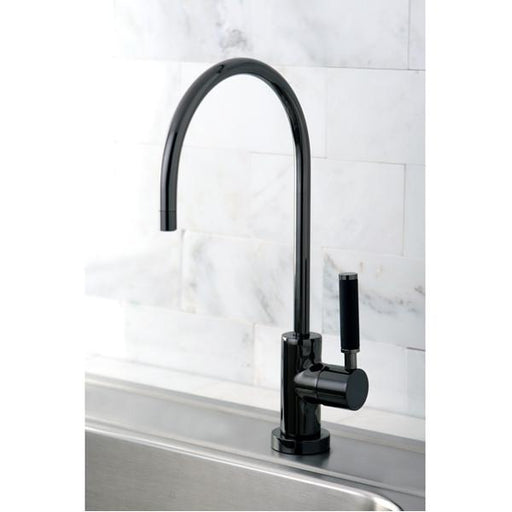 Kingston Brass Gourmetier NS8190DKL Water Onyx Cold Water Filtration Faucet in Black Nickel-Kitchen Faucets-Free Shipping-Directsinks.