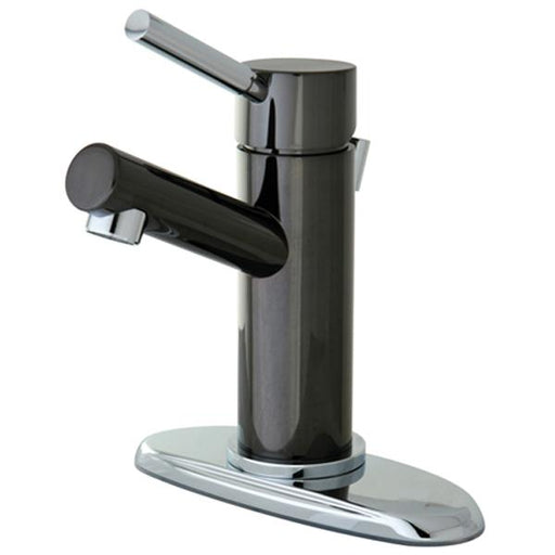 Kingston Brass Water Onyx Single Lever Lavatory Faucet with Brass Pop Up-Bathroom Faucets-Free Shipping-Directsinks.