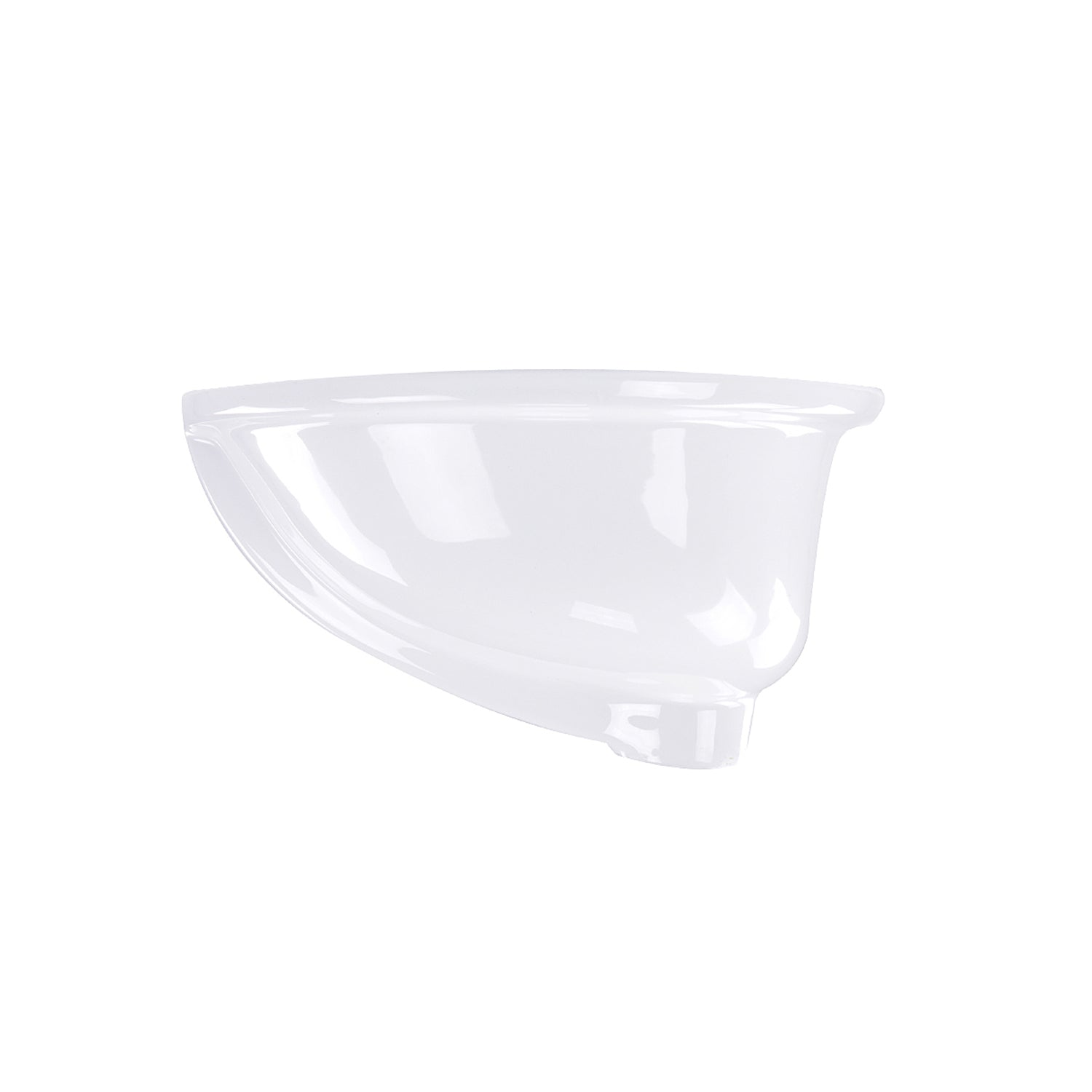 Nantucket Sinks 17 x 14 Glazed Bottom Undermount Oval Ceramic Sink In White