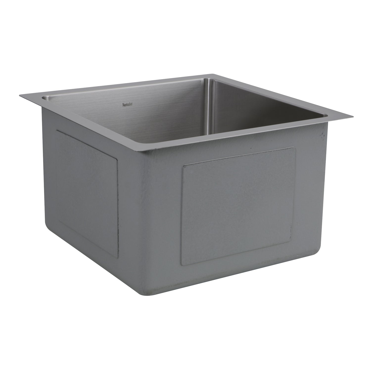"Nantucket Sinks SR1515 - 15"" Pro Series Square Undermount Small Radius Stainless Steel Bar/Prep Sink"