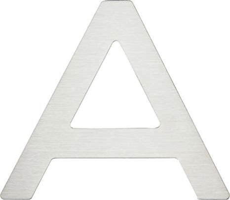 Stainless steel House Letter A Paragon Atlas Homewares PGNA-SS