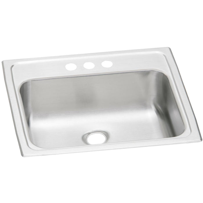 "Elkay Celebrity Stainless Steel 19"" x 17"" x 6-1/8"" Single Bowl Drop-in Bathroom Sink"