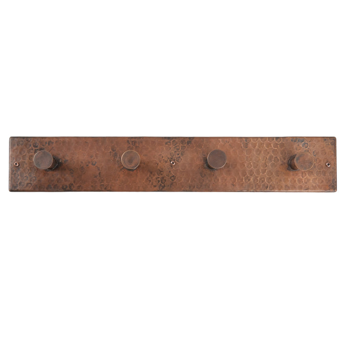 Premier Copper Products Hand Hammered Copper Quadruple Robe/Towel Hook-DirectSinks