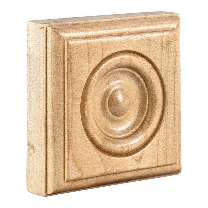 "Hardware Resources 3"" x 3"" x 7/8"" Oak Traditional Rosette Moulding-DirectSinks"