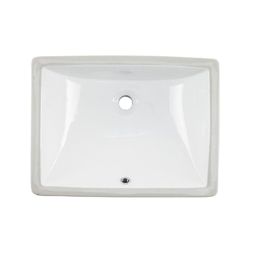 Wells Sinkware 20-Inch Rectangular Undermount Single Bowl Bathroom Sink-Bathroom Sinks Fast Shipping at Directsinks.
