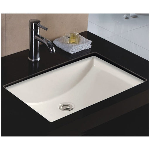 Wells Sinkware 22-Inch Rectangular Single Bowl Undermount Bathroom Sink-Bathroom Sinks Fast Shipping at Directsinks.