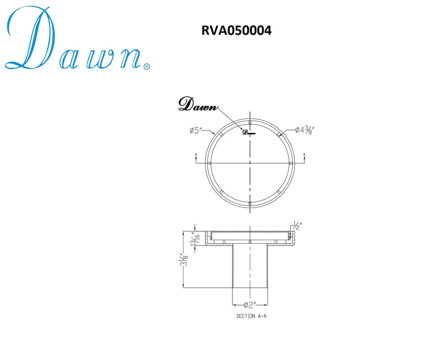 Dawn Volga River Series Round Shower Drain-Bathroom Accessories Fast Shipping at DirectSinks.