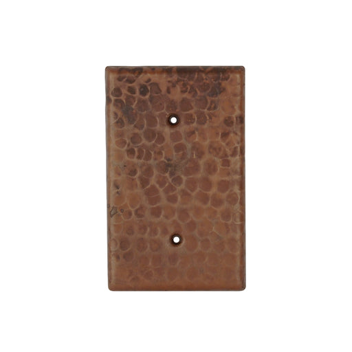 Premier Copper Products Blank Hand Hammered Copper Switch Plate Cover - Two Hole-DirectSinks