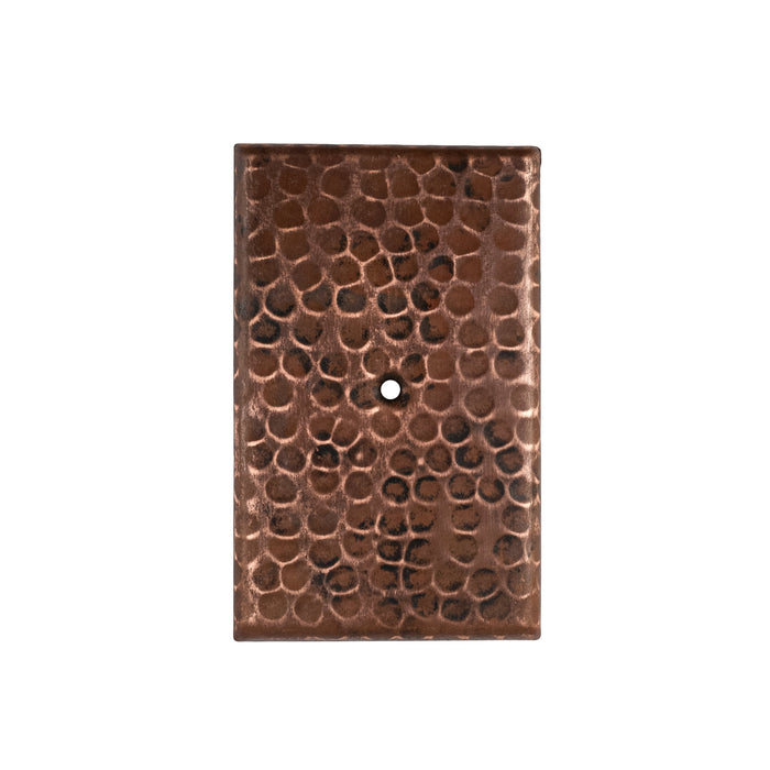 Premier Copper Products Blank Hand Hammered Copper Switch Plate Cover - Single Hole-DirectSinks
