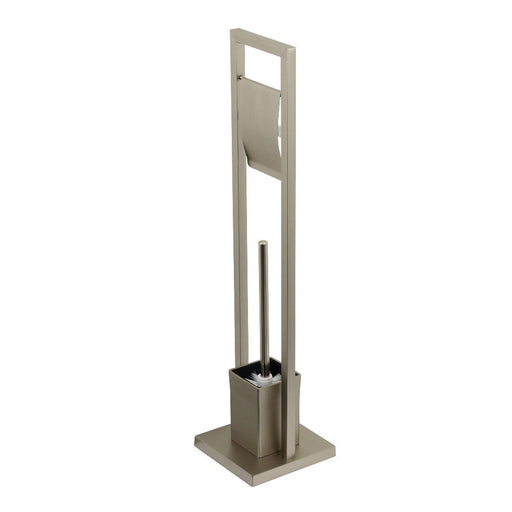 Kingston Brass Pedestal Toilet Paper Holder with Toilet Brush Holder