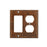 Premier Copper Products Copper Combination Switchplate, 2 Hole Outlet and Ground Fault/Rocker GFI Cover-DirectSinks