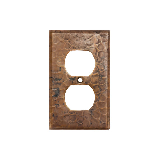 Premier Copper Products Copper Switchplate Single Duplex, 2 Hole Outlet Cover-DirectSinks