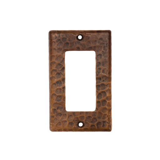 Premier Copper Products Copper Single Ground Fault/Rocker GFI Switchplate Cover-DirectSinks