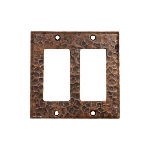 Premier Copper Products Copper Double Ground Fault/Rocker GFI Switchplate Cover-DirectSinks