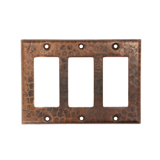 Premier Copper Products Copper Switchplate Triple Ground Fault/Rocker Cover GFI-DirectSinks