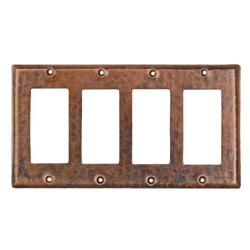Premier Copper Products Copper Switchplate Quadruple Ground Fault/Rocker Cover GFI-DirectSinks