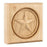 "Hardware Resources 3-1/2"" x 3-1/2"" x 7/8"" Rubberwood Star Rosette Moulding-DirectSinks"