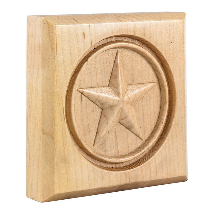 Hardware Resources White Birch Star Rosette Moulding-DirectSinks