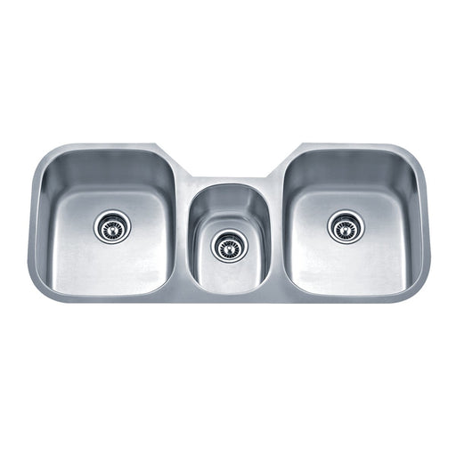 Wells Sinkware 46-Inch 18-Gauge Undermount Triple Bowl Stainless Steel Kitchen Sink-Kitchen Sinks Fast Shipping at Directsinks.