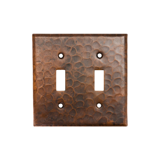 Premier Copper Products Copper Switchplate Double Toggle Switch Cover-DirectSinks