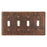 Premier Copper Products Copper Switchplate Quadruple Toggle Switch Cover-DirectSinks