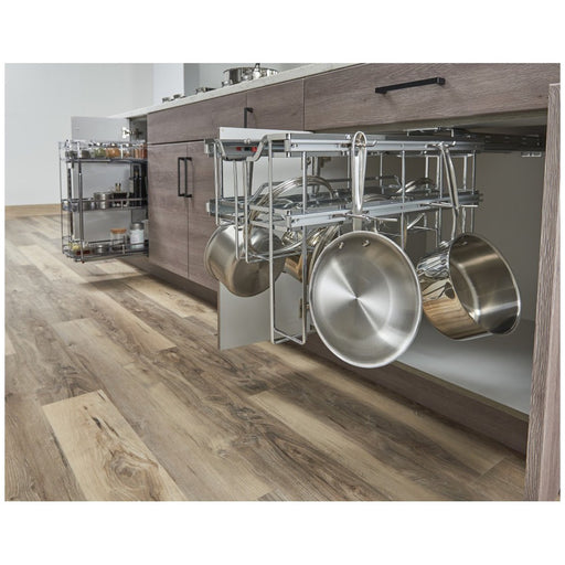 Hardware Resources Polished Chrome Hanging Pan Organizer with Soft-close-DirectSinks