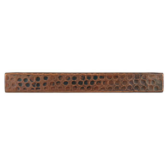 "Premier Copper Products 1"" x 8"" Hammered Copper Tile - Quantity 4-DirectSinks"