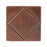 "Premier Copper Products 4"" x 4"" Hammered Copper Tile with Diamond Design-DirectSinks"