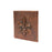 "Premier Copper Products 4"" x 4"" Hammered Copper Fleur De Lis Tile - Quantity 4-DirectSinks"