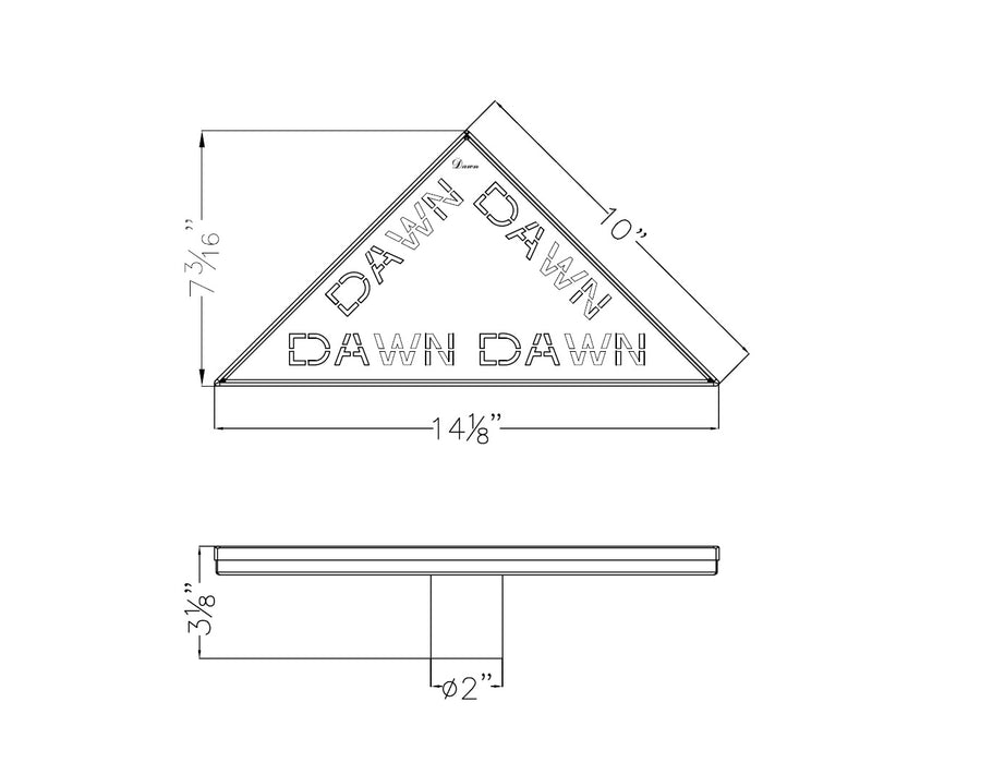 Dawn Series - Triangle Shower Drain-Bathroom Accessories Fast Shipping at DirectSinks.