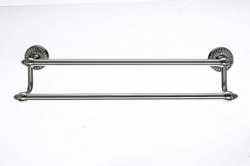 "Topknobs TUSC7BSN 18"" Double Towel Bar in Brushed Satin Nickel-DirectSinks"