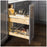 "Hardware Resources 8 Inch ""No Wiggle"" Utensil Bin Base Cabinet Pullout Built on Premium Soft-close Slides"