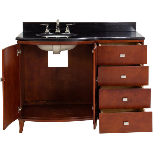 Jeffrey Alexander Mahogany Modern Vanity with Preassembled Top and Bowl