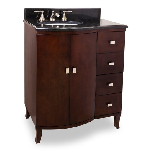 "Jeffrey Alexander VAN067-T 30"" wide solid wood vanity-DirectSinks"
