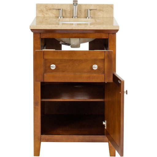 "Jeffrey Alexander Chatham Shaker 24"" Vanity with Preassembled Top and Bowl"