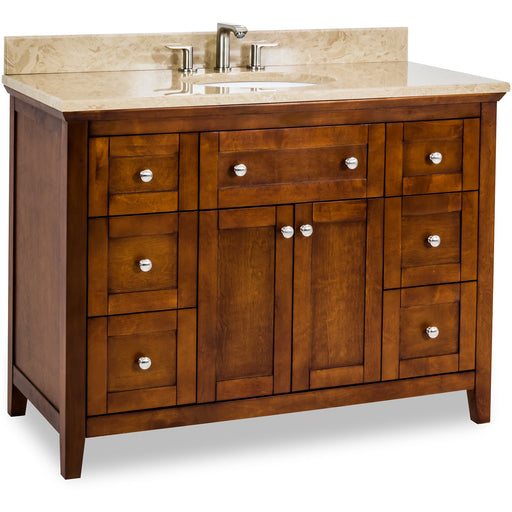 "Jeffrey Alexander Chatham Shaker 48"" Vanity with Preassembled Top and Bowl-DirectSinks"