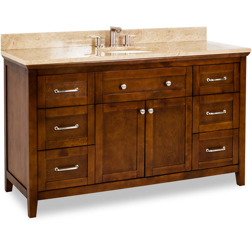 "Jeffrey Alexander Chatham Shaker 60"" Vanity with Preassembled Top and Bowl-DirectSinks"